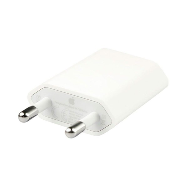 Apple md813zm/a blanco adaptador de corriente usb de 5w original de apple