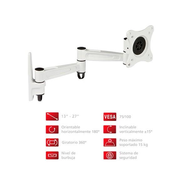 Fonestar stv-649b soporte orientable de pared para tv de 13'' a 27'' compatible vesa 100