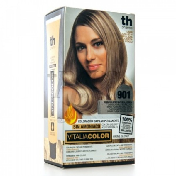 TH PHARMA VITALIA COLOR 901 RUBIO PLATINO CENIZA