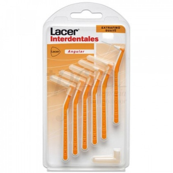 CEPILLO INTERDENTAL LACER EXTRAFINO SUAVE ANG 6