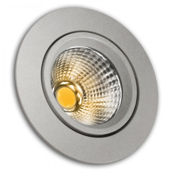 Aro led cob alum.basc.red.plata 8w.calid