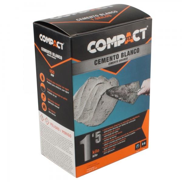 Cemento blanco 1,5 kg. compact