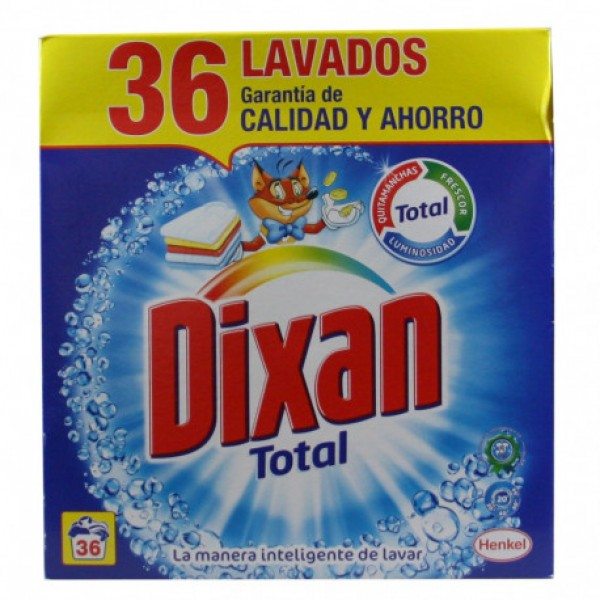 Dixan total detergente 36