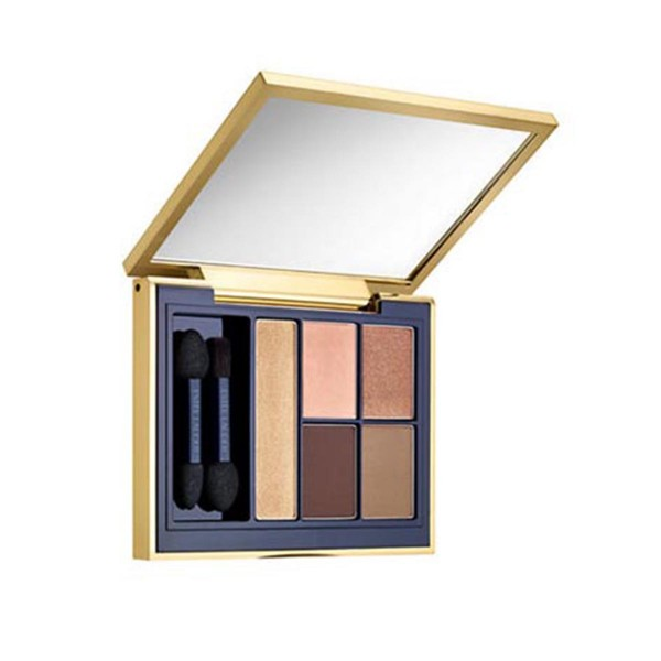 Estee lauder pure color envy sculpting sombra de ojos 5 color paleta 05 fiery saffron