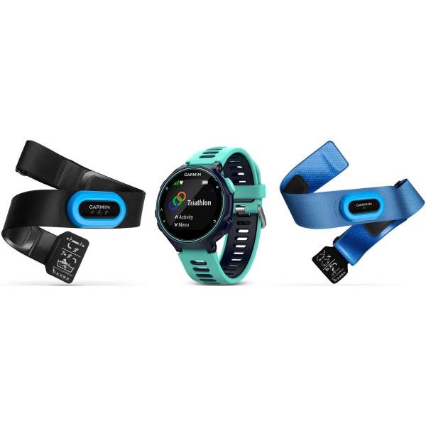 Garmin forerunner 735xt azul turquesa reloj multideporte sensores hrm-tri hrm-swim gps glonass monitor de frecuencia cardíaca y actividad resistente al agua 5 atm