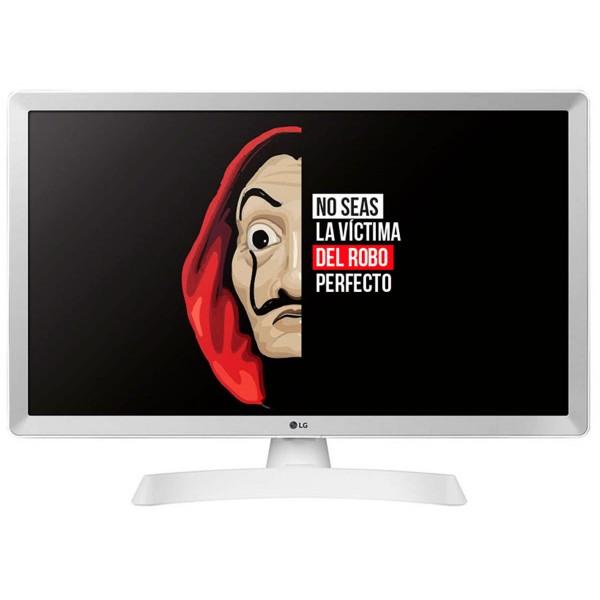Lg 24tl510s-wz blanco televisor monitor 24'' lcd led hd smart tv hdmi usb 8ms lan wifi componentes compuesta óptica