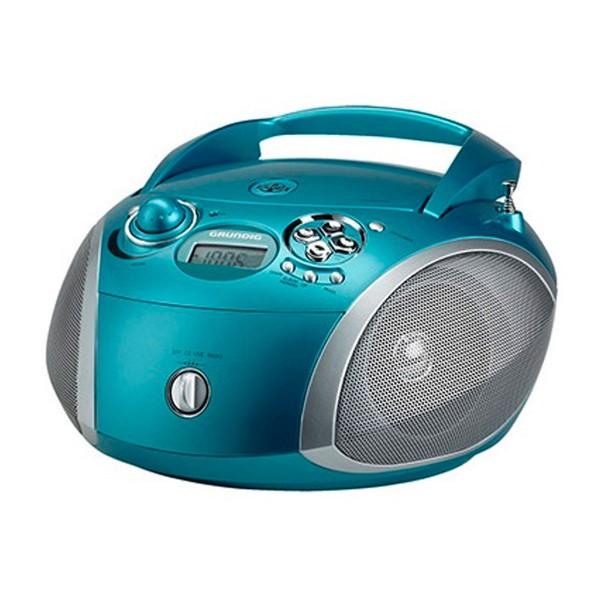 Grundig rcd 1445 radio cd con usb turquesa y plata