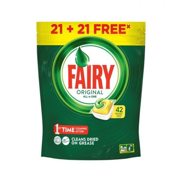 Fairy lavavajillas todo en 1 original 21 + 21 gratis