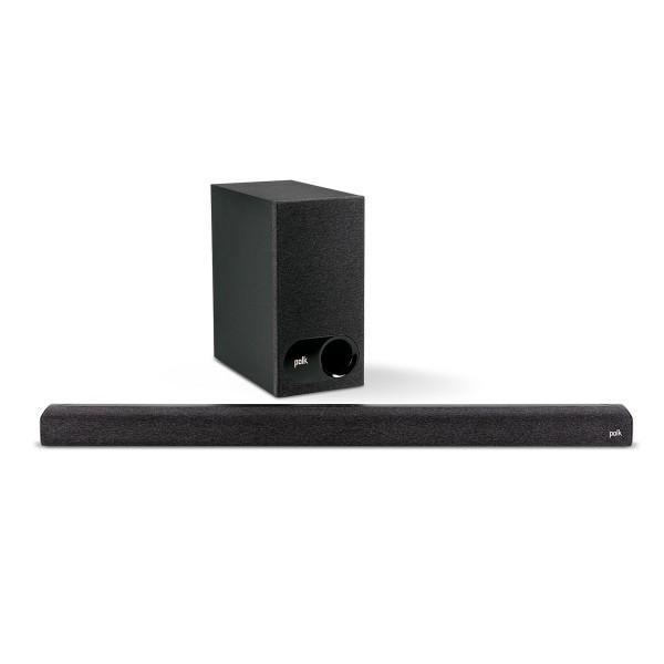 Polk signa s3 sound bar barra de sonido y subwoofer inalámbrico 160w para tv con chromecast integrado, bluetooth wifi